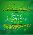 happy saint patricks day background design with vector image vector image