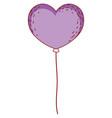 heart shaped balloon vector image vector image
