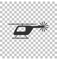 Helicopter sign Dark gray icon on vector image vector image