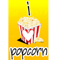 I love popcorn vector image