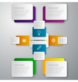 infographics paper rectangles vector image