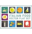 Italian food flat icons vector image