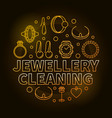 jewellery cleaning golden creative outline vector image