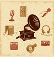 karaoke vintage composition vector image