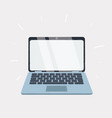 laptop computer object on white vector image vector image