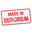 made in south carolina red square isolated stamp vector image vector image