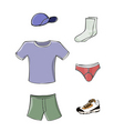 mens clothing vector image