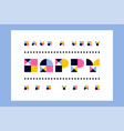 minimalistic happy new year greeting card vector image