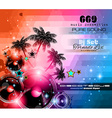 Music Themed background for Disco Club Flyers vector image vector image
