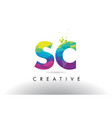 sc s c colorful letter origami triangles design vector image vector image