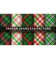 set classic tartan seamless pattern vector image vector image