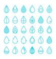 set drop water stock vector image vector image