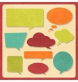 Set of speech bubbles in vintage style vector image