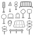 set of traffic equipment vector image