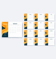simple calendar 2019 yesr stock design vector image