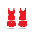 Singlet and shorts vector image