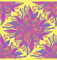 summer vivid flowers seamless pattern pastel neon vector image