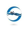 Swimmer Logo Design Element vector image