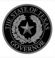 texas state governor seal vector image vector image