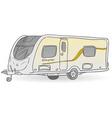Towing Caravan vector image vector image