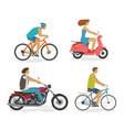 transportation trip driving icon set people vector image vector image