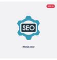 two color image seo icon from programming concept vector image