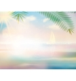 Untouched tropical beach design template vector image
