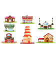 Various houses vector | Price: 3 Credits (USD $3)