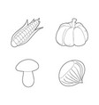 vegetables icon set outline style vector image