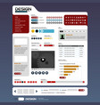 web design element template a complete set of web vector image vector image