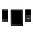 Smartphone tablet and mp3 player vector image
