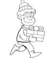 Cartoon Gift Kid vector image
