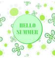 hello summer flyer cover seamless design vector image