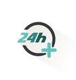 24 hours service icon pharmacy open symbol vector image