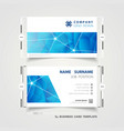 abstract corporate blue technology name card vector image