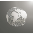 abstract world map sphere Africa vector image vector image