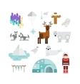 Alaska symbols vector image