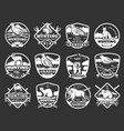 animals and wild fowl hunting club badges vector image