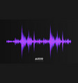 audio wavefrom abstract music waves vector image vector image