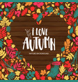 autumn leaf poster orange leaves maple vector image vector image
