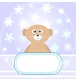 baby bear greetings card vector image vector image