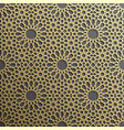 background with gold seamless pattern on black vector image vector image