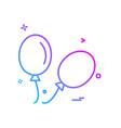 balloons icon design vector image vector image