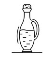 balsamic vinegar bottle icon outline style vector image vector image
