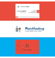 beautiful network setting logo and business card vector image vector image