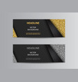 black banner background with glitter vector image vector image