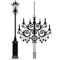 black chandelier vector image vector image