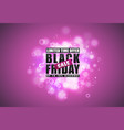 black friday sale banner black text with tag and vector image