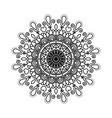 black silhouette flower mandala vintage decorative vector image vector image