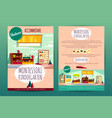 brochures with montessori kindergarten for vector image